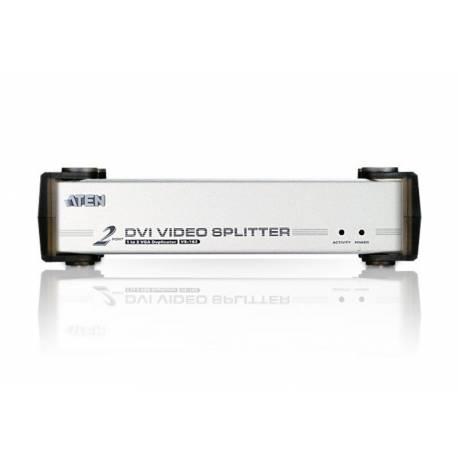 2-portowy rozgałęźnik sygnału wideo DVI