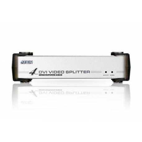 4-portowy rozgałęźnik sygnału wideo DVI