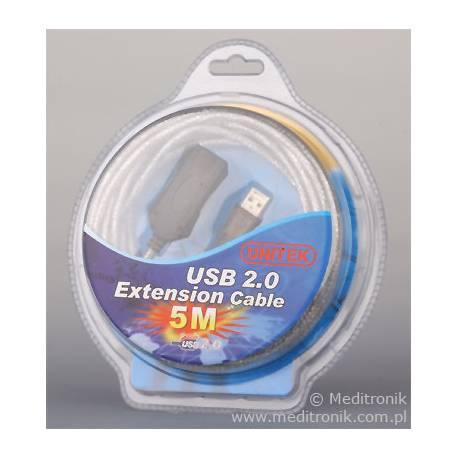 Aktywny przedłużacz repeater USB 2.0 długość 5m