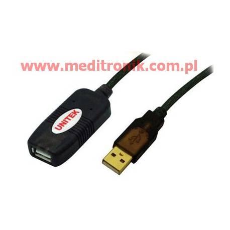 Aktywny przedłużacz repeater USB 2.0 długość 10m