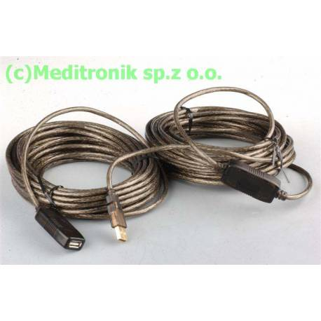 Aktywny przedłużacz repeater USB 2.0 długość 20m