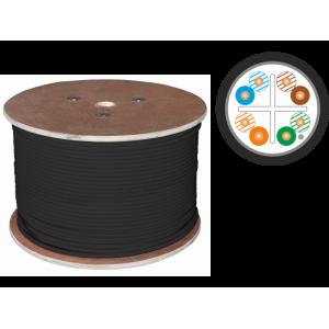 kabel F/UTP kat.6 PE 4x2x23AWG 305m zewnętrzny żelowany