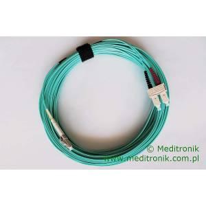 Patchcord światłowodowy LC-SC 50/125 OM3 MM duplex 15m