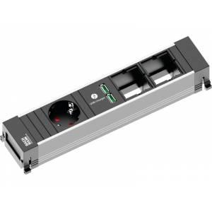 POWER FRAME listwa zasil. 4x: 1x gn.Schuko 1xład.USB 2x wolne miejsce GST18i3 zasil. 0