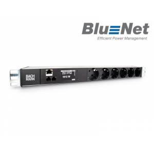 "BlueNet BN2000 monit. PDU listwa zasil. 19"" 1HE 1-faz. 6x gn.Schuko przew.zas. 3 m (329.3009)"