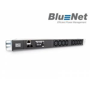 "BlueNet BN2000 monit. PDU listwa zasil. 19"" 1HE 1-faz. 8xIEC320 C13 przew.zas. 3m (329.3010)"