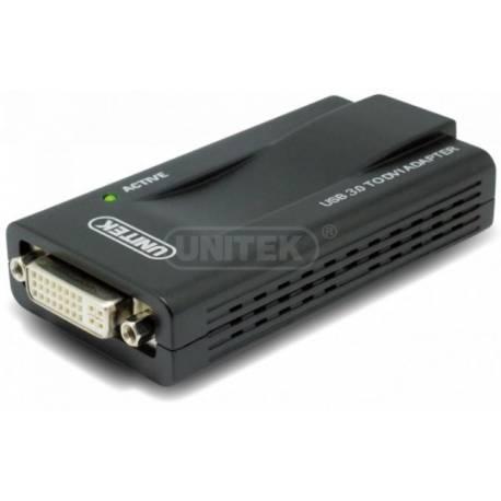 Unitek Y-3801 konwerter USB 3.0 1x DVI/VGA