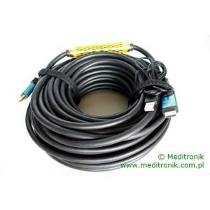 Kabel HDMI HDLink v1.4 wzmacniacz sygnału na USB długość 25m