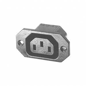 Złącze C13 na panel przykręcane rozstaw 40mm do wtyków 4,8mm