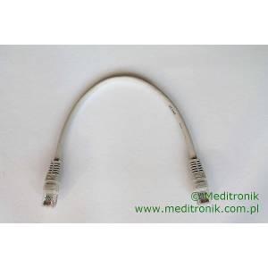 Patchcord ekonomiczny U/UTP Kat.5e PVC dł.0,3m szary