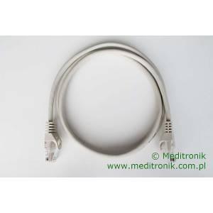 Patchcord ekonomiczny U/UTP Kat.5e PVC dł.1,0m szary
