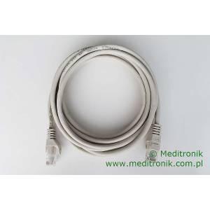 Patchcord ekonomiczny U/UTP Kat.5e PVC dł.3,0m szary