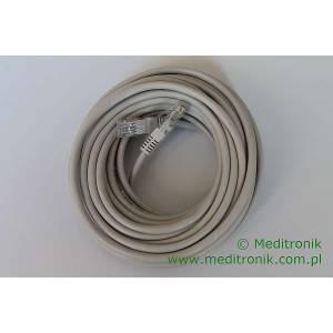 Patchcord ekonomiczny U/UTP Kat.5e PVC dł.10,0m szary