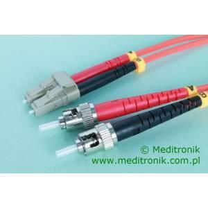 Patchcord światłowodowy LC-ST 50/125 OM3 MM duplex 15m