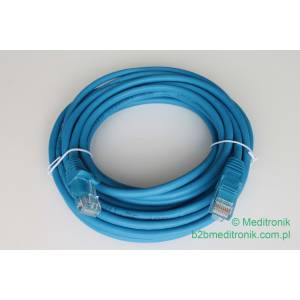 Patchcord ekonomiczny U/UTP Kat.5e PVC dł.5,0m niebieski WYPRZEDAŻ