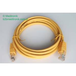 Patchcord ekonomiczny U/UTP Kat.5e PVC dł.2,0m żółty