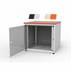 Biurowa szafka teleinformatyczna bez blatu 600x600 18U