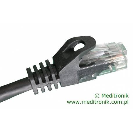 Patchcord miedziany U/UTP Kat.6 PVC dł.1,5m czarny