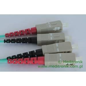 Patchcord światłowodowy SC-SC OM3 50/125μm MM duplex dł.20m