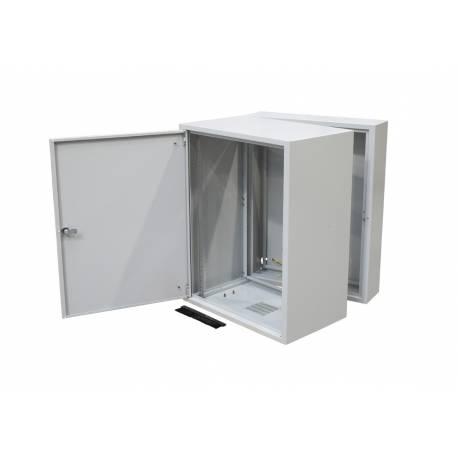 """Szafa rack 19"""" dwusekcyjna SD2 600x400 18U drzwi metalowe"""