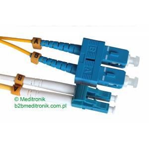 Patchcord światłowodowy LC-SC OM2 50/125μm MM duplex dł.5m wykonywany na zamówienie