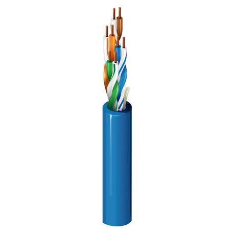 Kabel miedziany Belden U/UTP kat. 5e drut PVC 500m niebieski