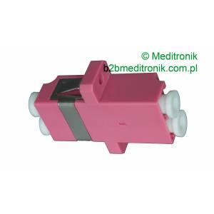 Adapter światłowodowy LC/UPC MM duplex OM4 wielomodowy