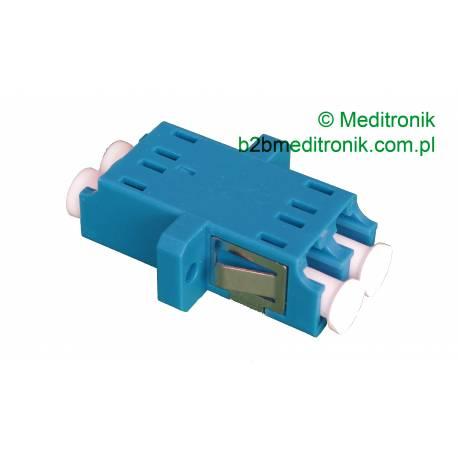 Adapter światłowodowy LC-LC duplex SM