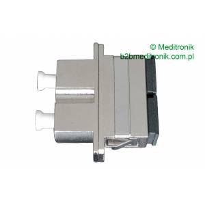 Adapter światłowodowy LC/UPC-SC/UPC duplex OM4 wielomodowy