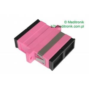 Adapter światłowodowy SC/UPC MM duplex OM4 wielomodowy
