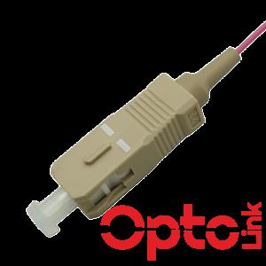 Pigtail światłowodowy MultiMode OM4 ze złączem SC/UPC. Osłona typu EAST STRIP ułatwiający zdjęcie izolacji. Długość 2m.
