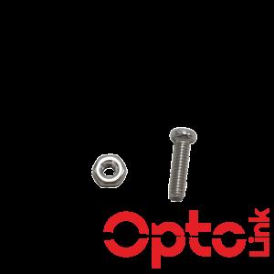 Śruba z nakrętką M2x8 do adapterów SC lub LC