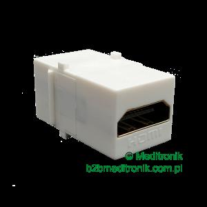 Moduł keystone gniazdo HDMI na gniazdo HDMI kolor biały