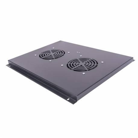 Panel wentylacyjny dachowy do szaf stojących, seria C 2 wentylatory, czarny