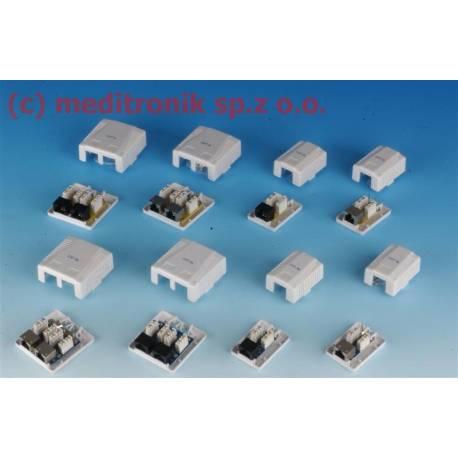 Gniazda natynkowe RJ45 FTP kat.6 montaż LSA+