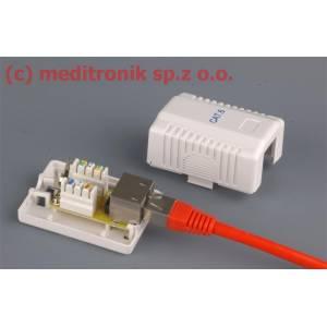 Gniazdo natynkowe pojedyncze RJ45 FTP kat.6 montaż LSA+