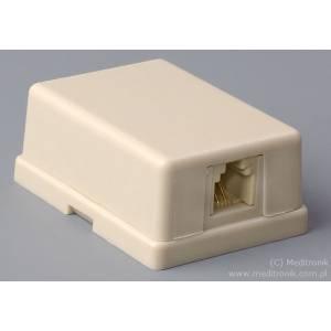 Gniazdo telefoniczne natynkowe 1xRJ12 6P6