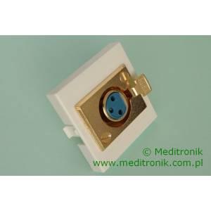 Adapter Mosaic 45x45 gniazdo XLR 3-pin do lutowania
