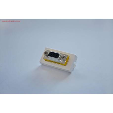 Adapter Mosaic 45x22,5 ze złączem VGA gniazdo na gniazdo