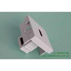 Adapter Mosaic 45x45 moduł HDMI kątowy gniazdo na gniazdo
