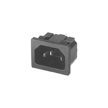 Złącze C14 na panel wciskane na zatrzask 20,5 x 26,7 mm