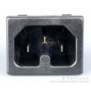 Złącze C16 na panel wciskane szerokość styków 6,3mm