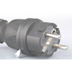 Złącze męskie na kabel 230v 16A IP44