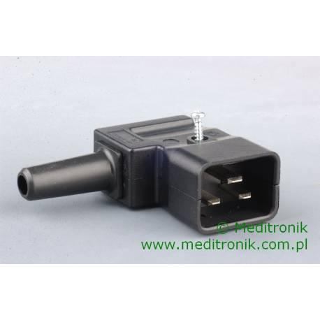 Złącze męskie C20 kątowe na kabel 3x2,1mm2 4789.1200