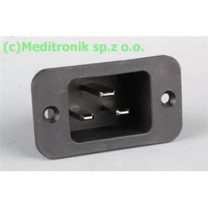 Złącze męskie C20 na panel przykręcane otwory 32,6x24,5mm
