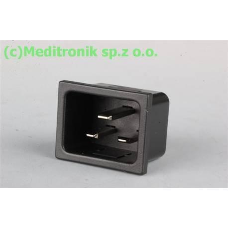 Złącze męskie C20 na panel wciskane otwór montażowy 32x24mm