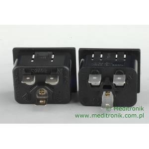 Złącze męskie C20 wciskane na panel otwór 24,3 x 32,3mm