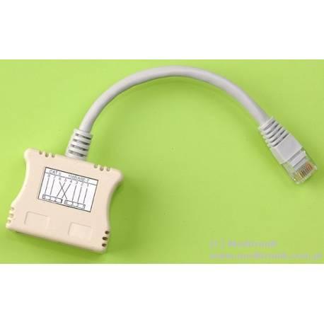 Adapter UTP do zestawienia 2 torów ethernet na jednym kablu