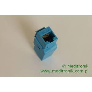 Adapter keystone przejściówka RJ45-RJ45 kat.6 UTP niebieski