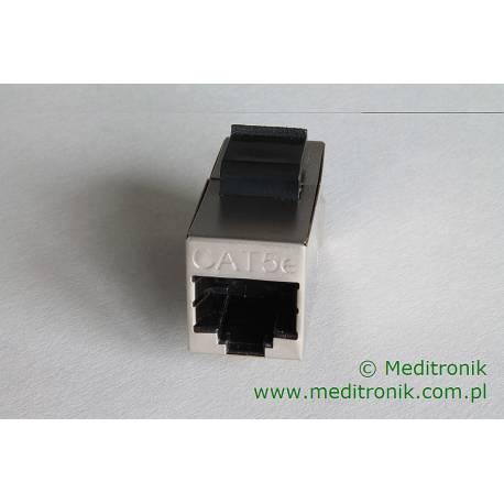 Adapter keystone przejściówka RJ45-RJ45 kat.5e FTP